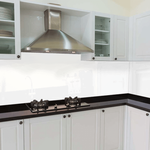 Kitchen Glass Splashbacks Quote With Fitting