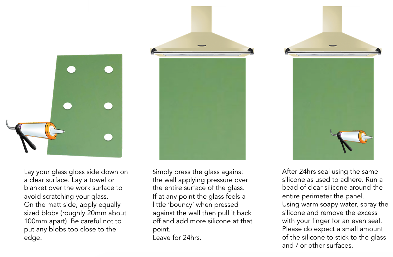 glass splashback fitting instructions