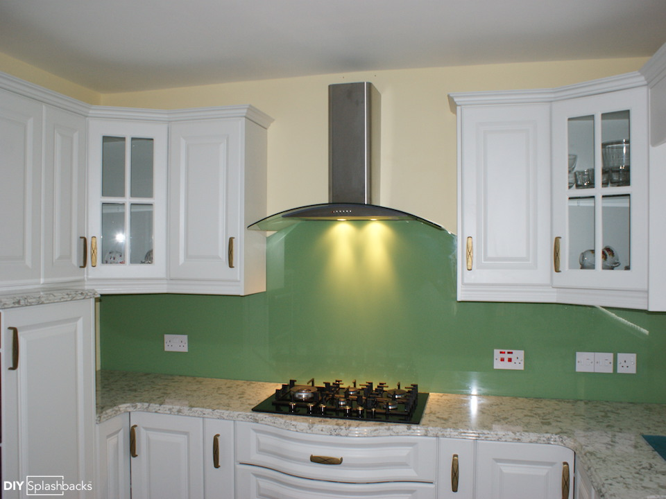 Green And Blue Glass Splashbacks