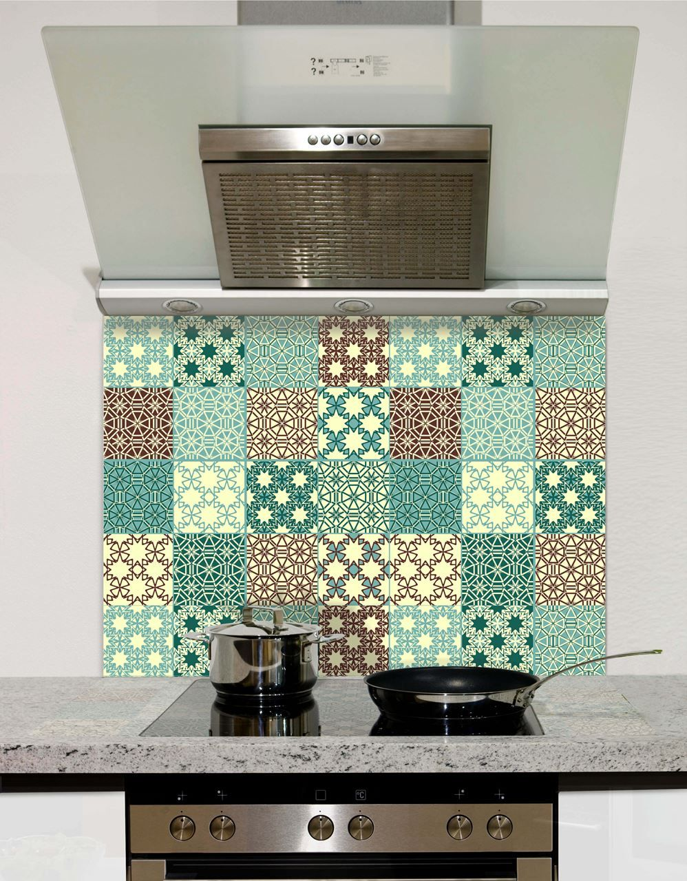 Duck Egg Tile Glass Splashback