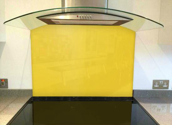 Picture of RAL Saffron yellow Splashback