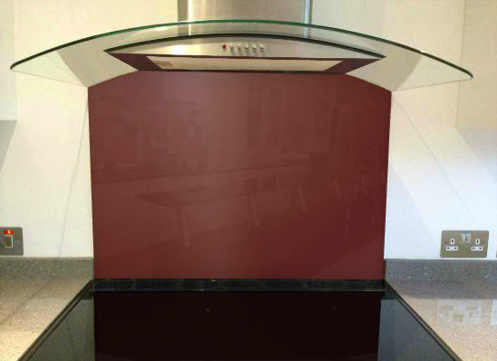 Picture of RAL Oxide red Splashback