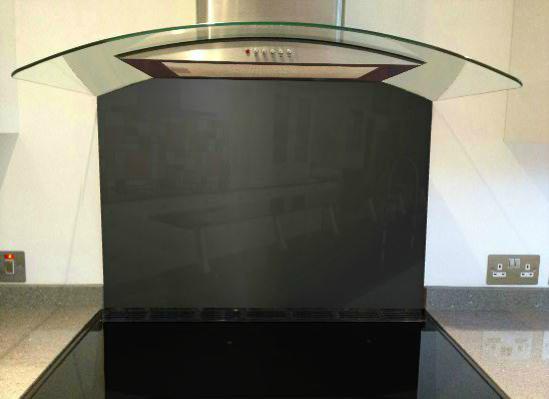 Picture of RAL 9004 Splashback