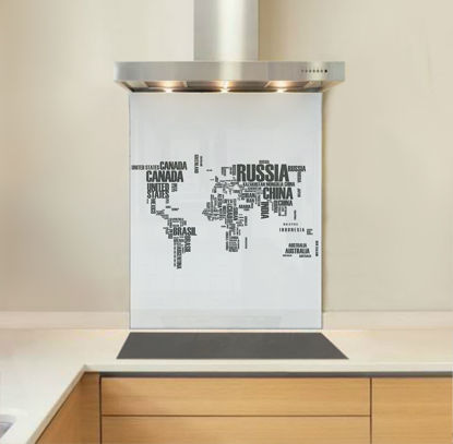 Picture of Grey World Map Splashback