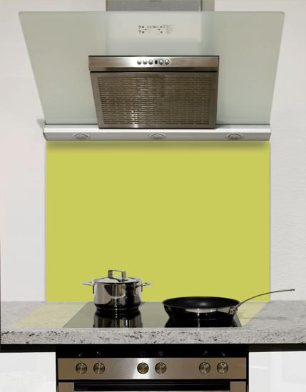 Luscious Lime Glass Kitchen Splashback