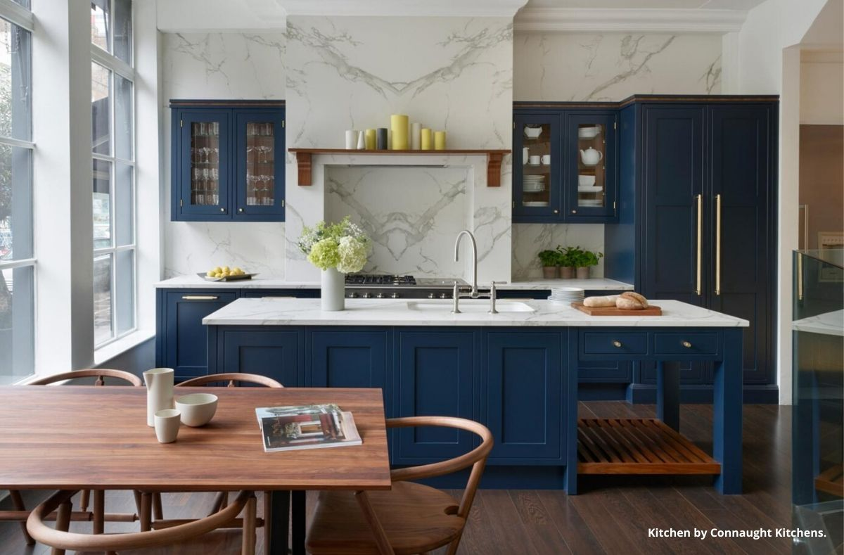Blue Kitchen by Connaught Kitchens