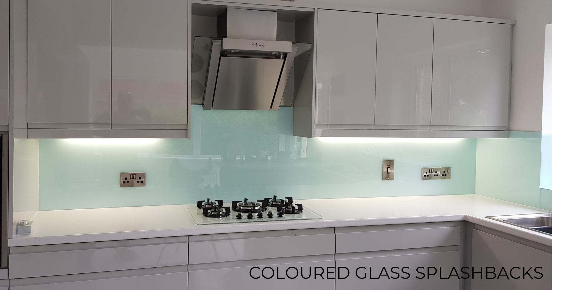 Coloured Glass Splashbacks for kitchens