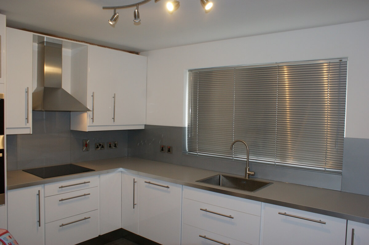 Grey Glass Splashbacks- understated but pure class