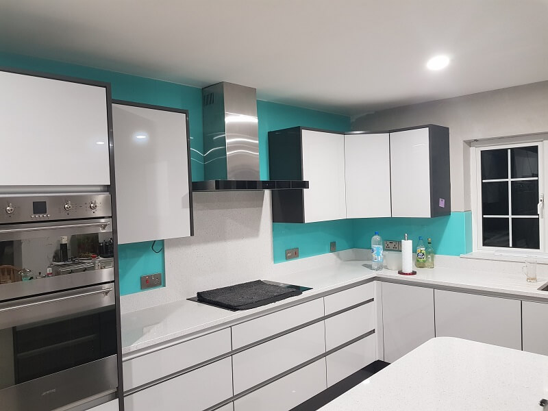 Blue Acrylic Splashbacks