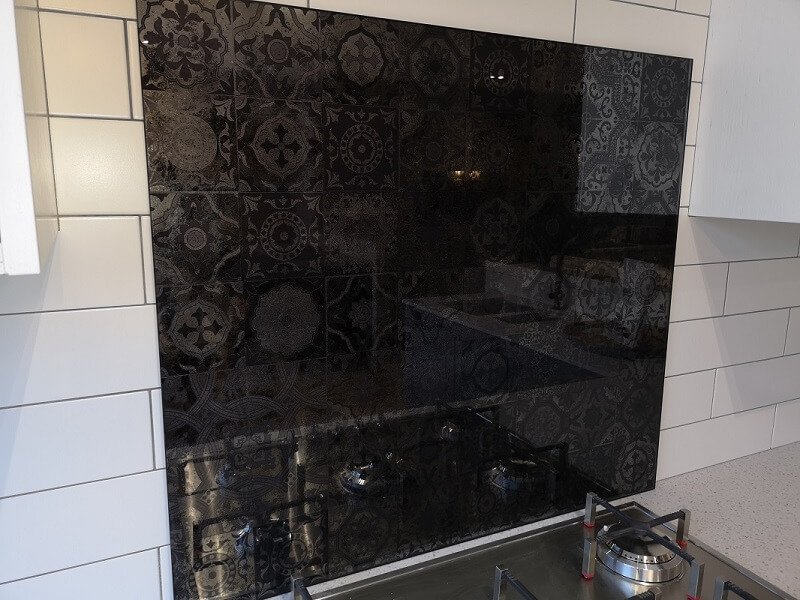Moroccan Tiles Antique Mirror Splashback