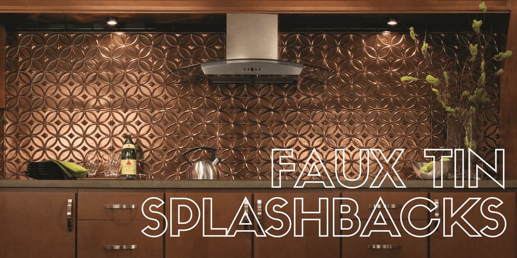 Faux Tin Splashbacks, cut to size using scissors!