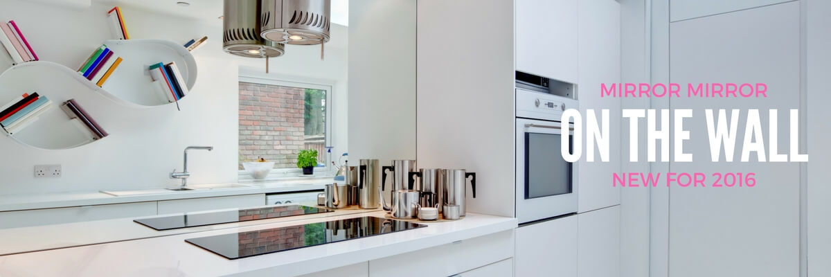 Mirror Splashbacks made from toughened glass and suitable for use behind a hob, mirror glass splashbacks are a great way to brighten up a dark kitchen.