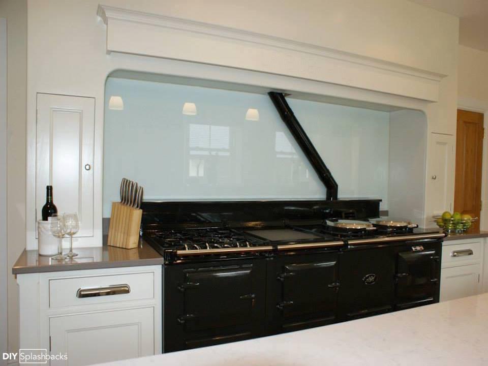 Aga Kitchen Design Uk aga glass splashbacks.