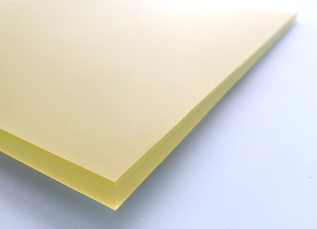 Yellow Brushed Glass Splashback