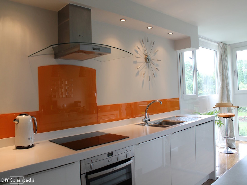 orange and yellow glass splashbacks