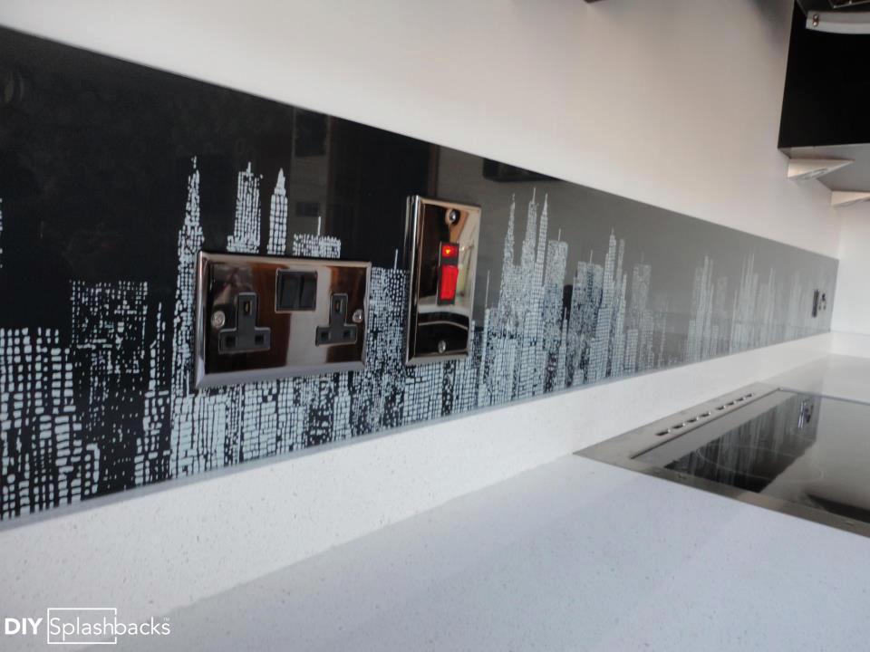 New York Skyline Glass Splashback