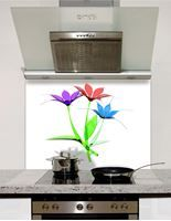 Picture of Bouquet of colorful flowers Splashback