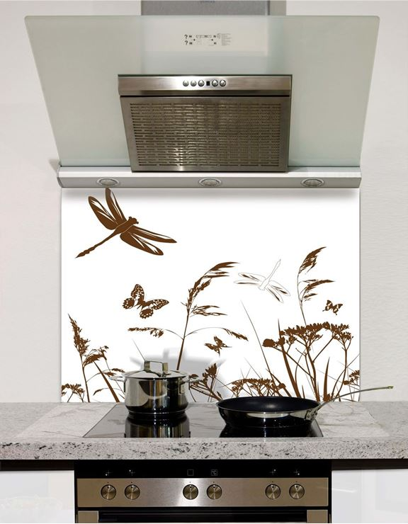 Picture of Dragonfly Silhouette Splashback