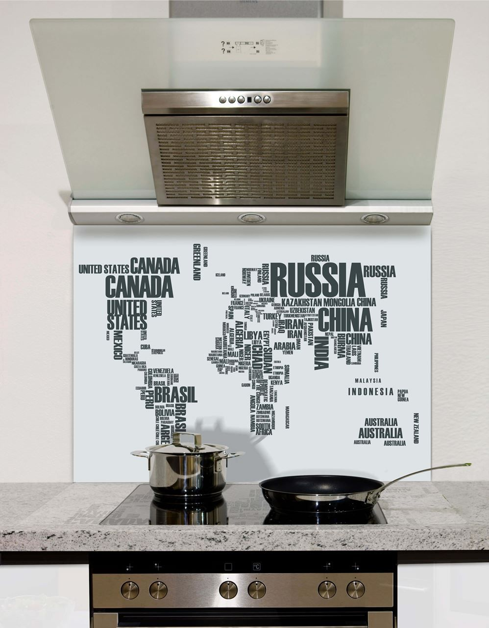 Classic collection of popular glass splashbacks grey world map splashback gumiabroncs Images
