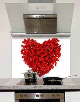 Picture of Heart Petals Splashback