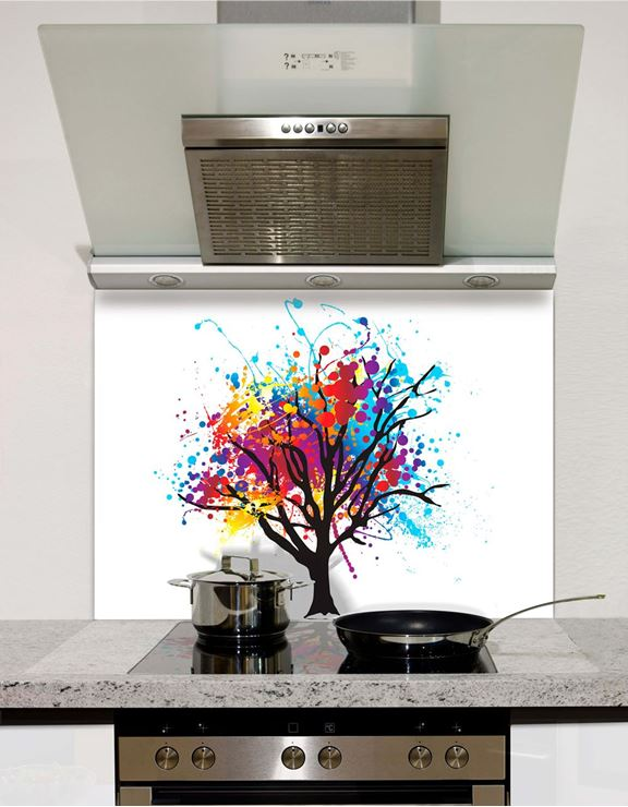 Picture of Rainbow Tree Splashback