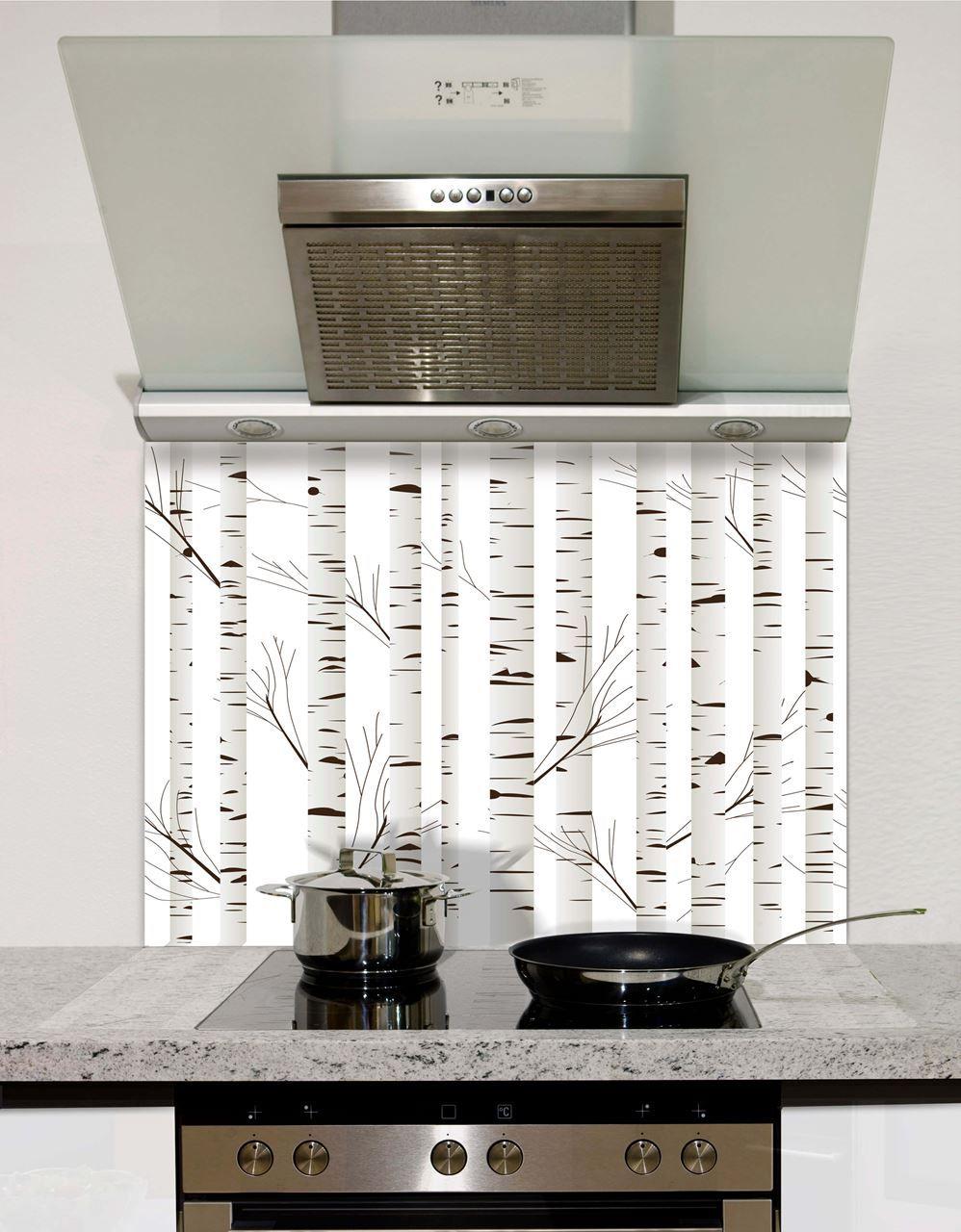 Woodland Silhouette Glass Splashback