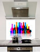 Picture of Bright bottles Splashback
