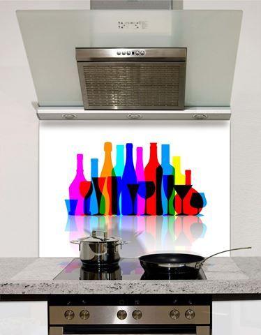 Picture of Bright bottles Splashback