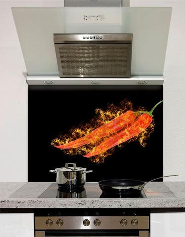 Picture of Chillies on Fire 2 Splashback
