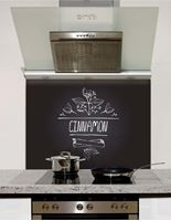 Picture of Cinnamon Black Chalkboard Splashback