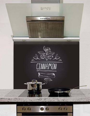 Picture of Cinnamon Black Chalkboard Splashback