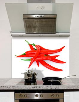 Picture of Heap of Red Hot Chilli Peppers Splashback