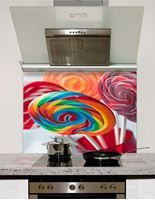 Picture of Spiral fruit lollipops Splashback
