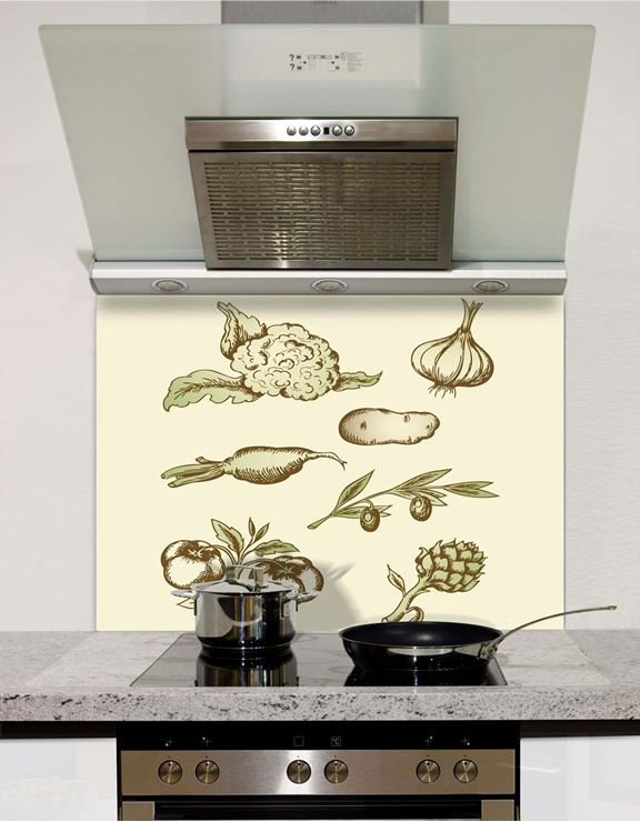 Picture of Vintage vegetables Splashback