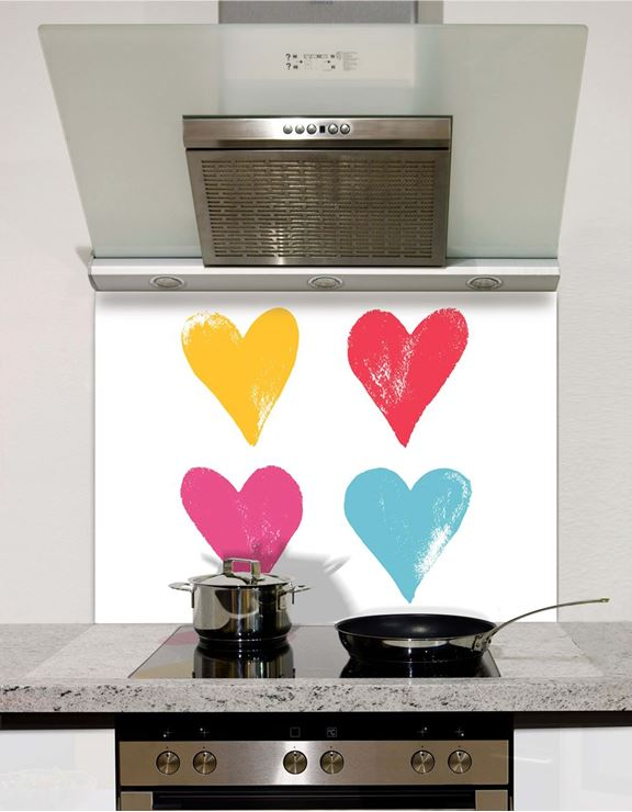 Picture of Grunge Hearts Splashback