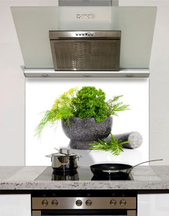 Picture of Grey Pestle and Mortar Splashback