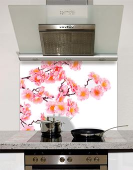 Picture of Close up of pink flowers Splashback