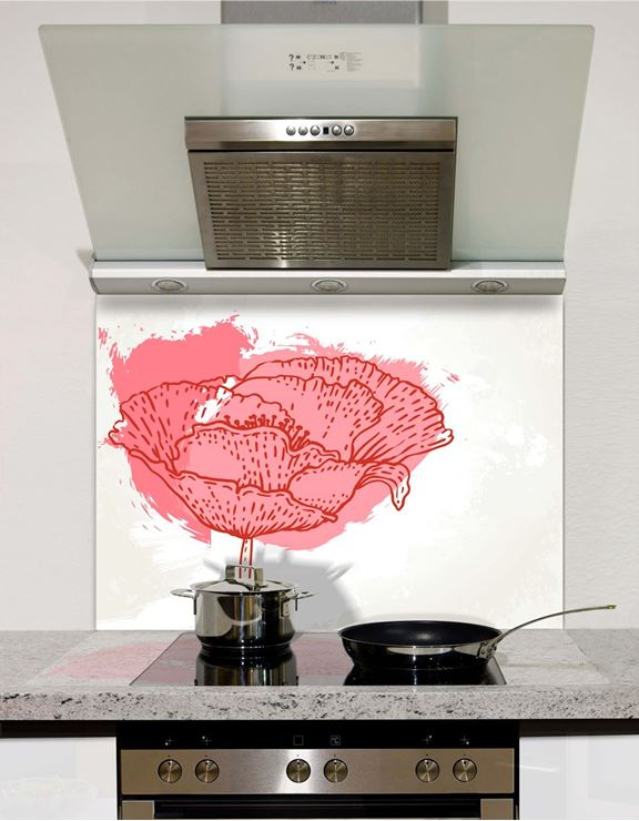 Picture of Pink Art Tulip Splashback