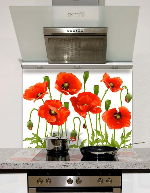 Picture of Spring poppy Splashback