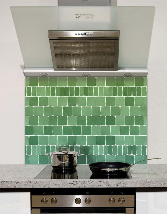 Picture of Moss green mosaic Splashback