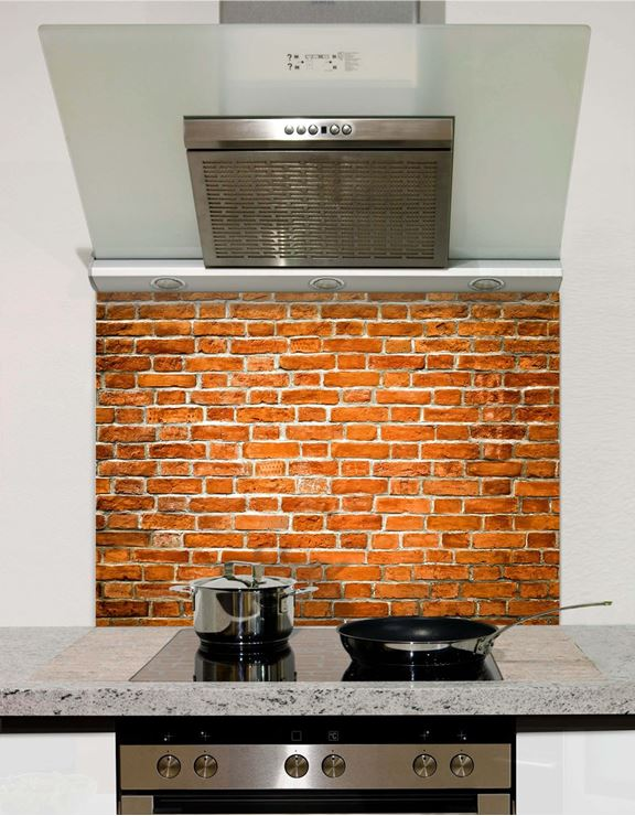 Picture of Old Red Brick Splashback