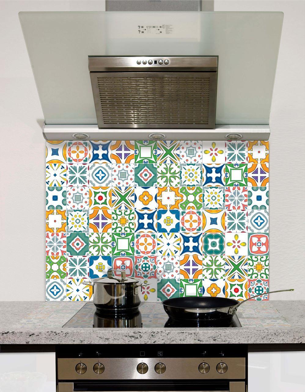 Seamless Mosaic Pattern Glass Splashback