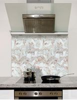 Picture of White veined marble Splashback