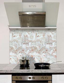 Picture of White veined marble Splashback