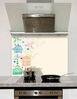 Picture of Colour Bird Cages Splashback