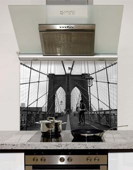 Picture of Brooklyn Bridge Greyscale Splashback