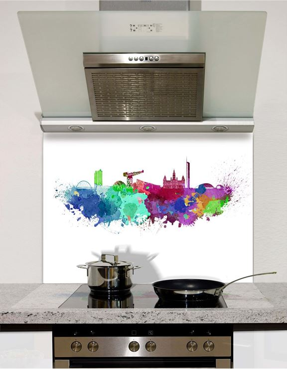 Picture of Watercolour Glasgow Splashback