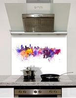 Picture of Watercolour liverpool Splashback