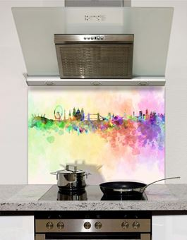 Picture of Watercolour London abstract Splashback