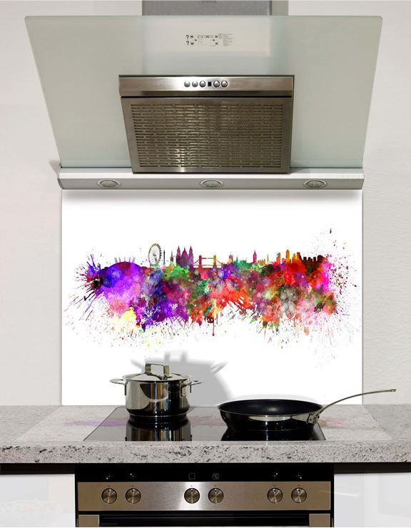 Picture of Watercolour London Splashback